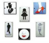 Enamel Toilet signs