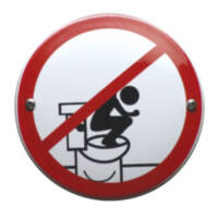 Do not stand on the toilet - curved  VG-16 - Ø10 cm
